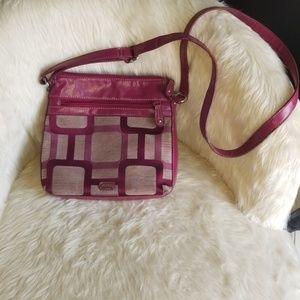 Vintage Like-New Beautiful Rose Pink Crossbody